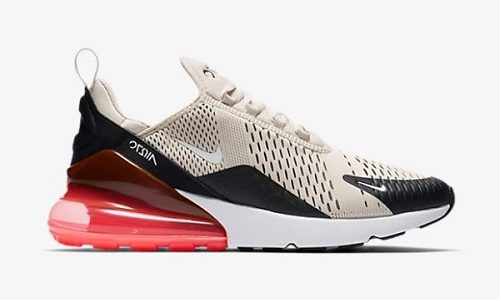 Nike Air Max 270 – Black / Light Bone / Hot Punch