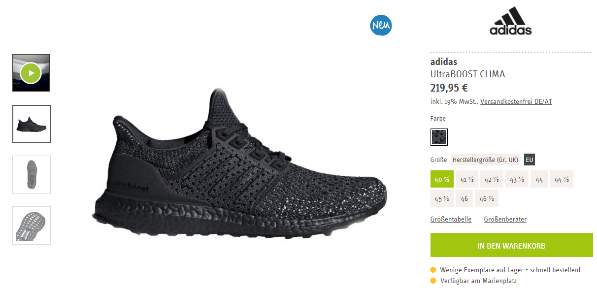 adidas UltraBoost Clima – Triple Black