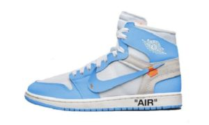 Off White x Nike Air Jordan 1 UNC Blue