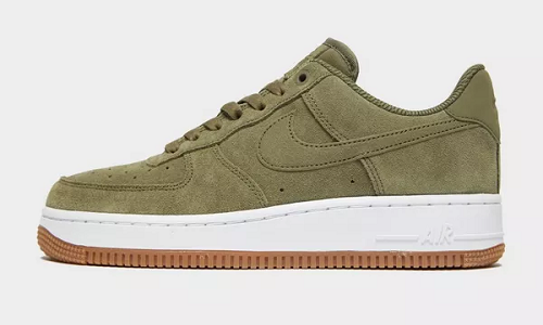 Nike Air Force 1 Suede Olive White Gum