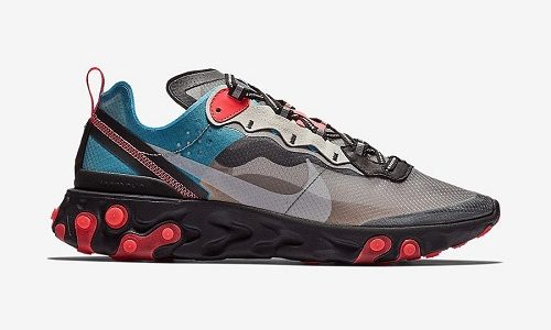 Nike React Element 87 Blue Red
