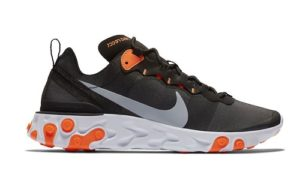 Nike React 55 Element Black Orange
