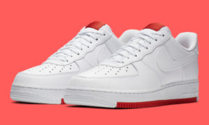 Nike Air Force 1 White Habanero Red