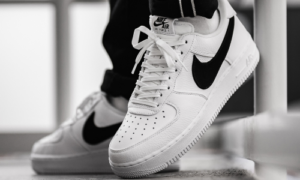 Nike Air Force 1 Big Swoosh White Black