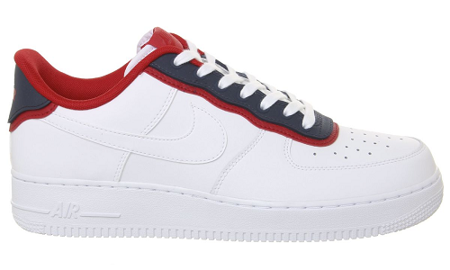 Nike Air Force 1 White Obsidian University Red