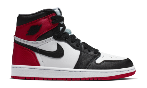 Nike Air Jordan 1 Satin Black Toe