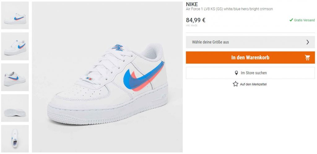 Nike Air Force 1 3D Swoosh – hier kaufen   snkraddicted