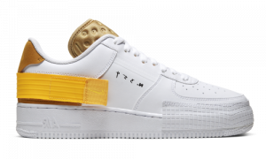 Nike Air Force 1 Low Type White Gold