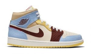 "Nike Air Jordan 1 Mid Fearless ""Maison Chateau Rouge"""