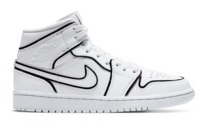 Nike Air Jordan 1 Mid White Reflective