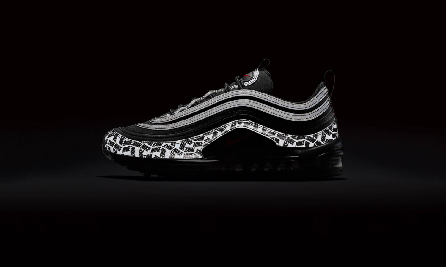 nike air max 97 schwarz university red reflective