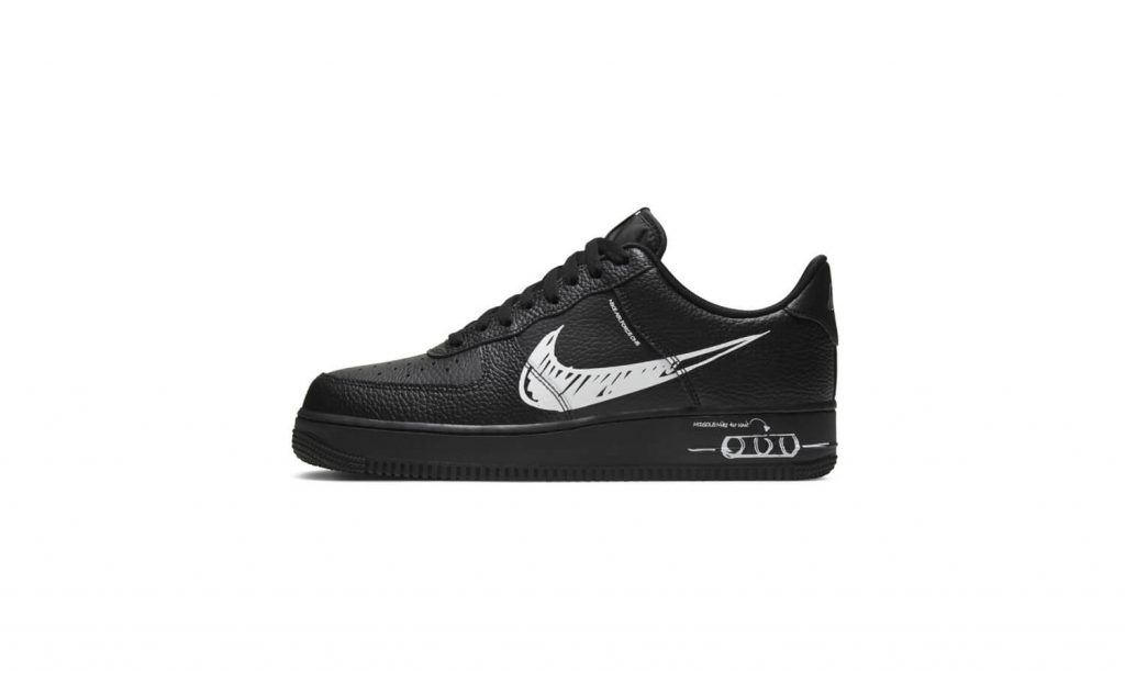 Nike Air Force 1 Sketch Black White