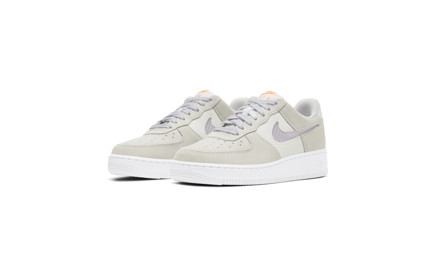 Nike Air Force 1 Transparent Swoosh Grey CJ1647-001