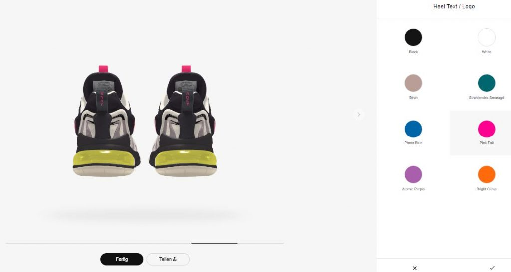 Nike Air Max 270 React ENG By You