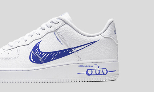 Nike Air Force 1 Sketch Blue – hier kaufen   snkraddicted