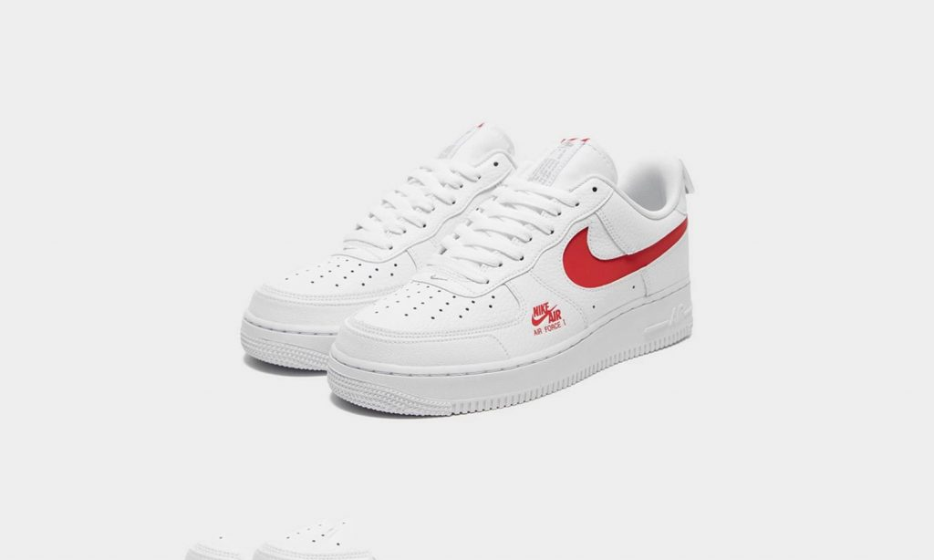 Nike Air Force 1 Utility Logo White Red