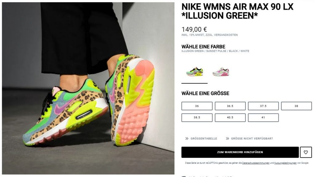 Nike Air Max 90 LX Illusion Green – hier kaufen | snkraddicted