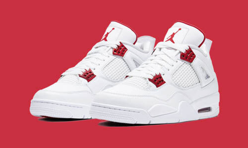 Nike Air Jordan 4 Retro White Metallic Red