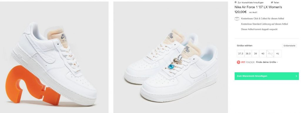 air force 1 07 size finder