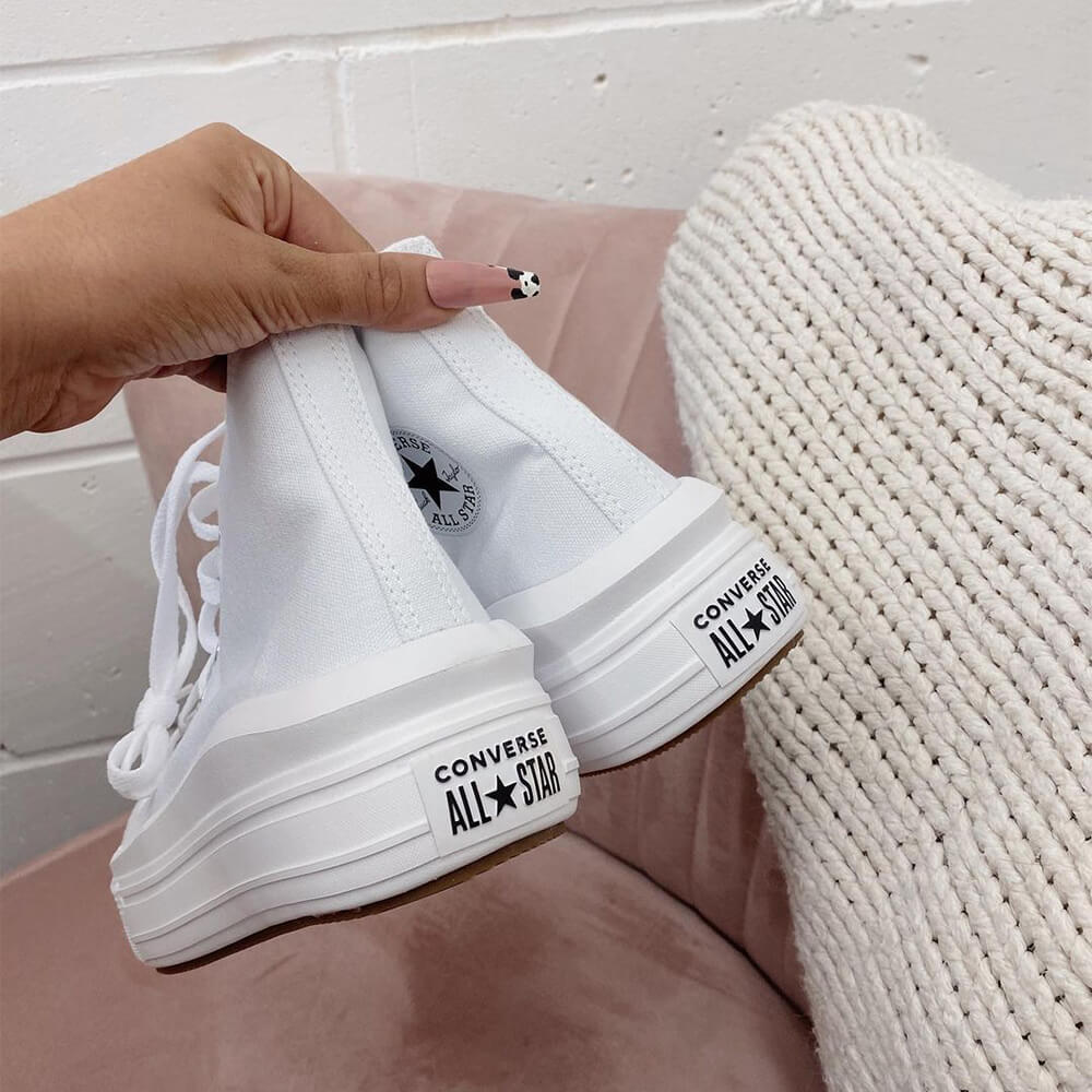 Converse Chuck Taylor All Star Move High White 568498C