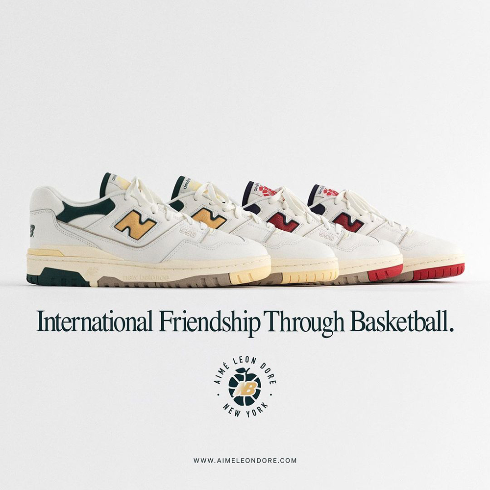 Aime Leon Dore x New Balance 550 Basketball Oxford